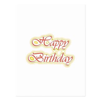Escritura ELEGANTE del feliz cumpleaños de Postal