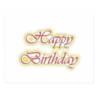 Escritura ELEGANTE del feliz cumpleaños de Postales