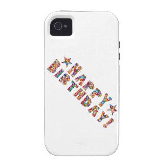 Escritura elegante: FELIZ CUMPLEAÑOS Case-Mate iPhone 4 Carcasas