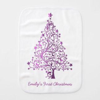 Escritura estrellada rosada elegante del árbol de paños para bebé