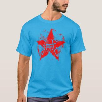 Escritura japonesa para la estrella del interior camiseta