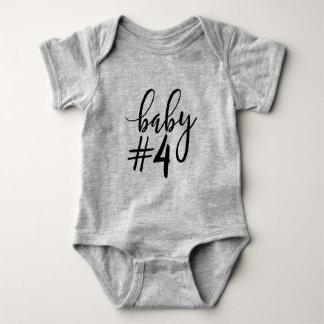 Escritura manuscrita negra del bebé #4 body para bebé
