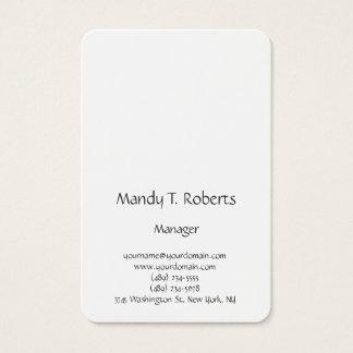 Escritura minimalista simple llana de moda moderna tarjeta de negocios
