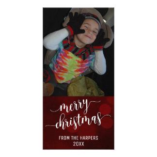Escritura moderna de las Felices Navidad con las Tarjeta