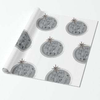 Escritura religiosa del navidad papel de regalo