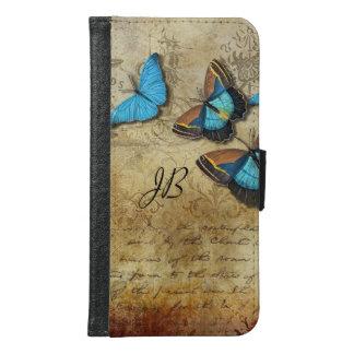 Escritura y mariposas del vintage carteras