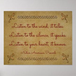 Escuche el viento -- impresión del arte