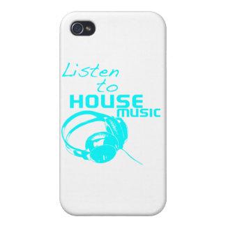 Escuche la música de la casa iPhone 4/4S fundas