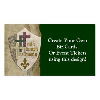 Escudo cristiano de la trinidad - cree sus propias tarjeta de visita