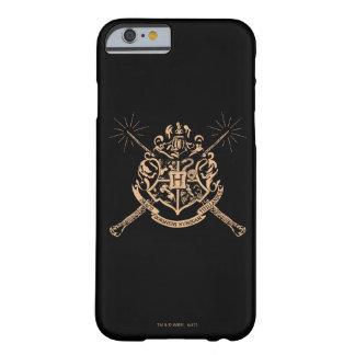 Escudo cruzado Hogwarts de las varas de Harry Funda Barely There iPhone 6