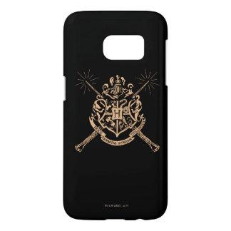 Escudo cruzado Hogwarts de las varas de Harry Funda Samsung Galaxy S7