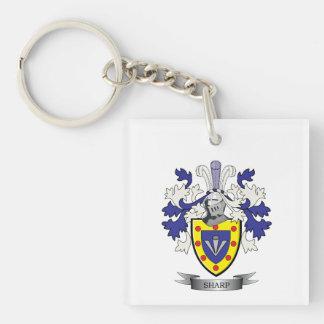 Escudo de armas agudo del escudo de la familia llavero