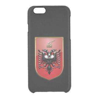 Escudo de armas albanés funda transparente para iPhone 6/6S