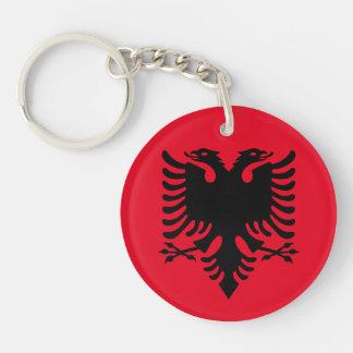 Escudo de armas albanés llavero redondo acrílico a una cara