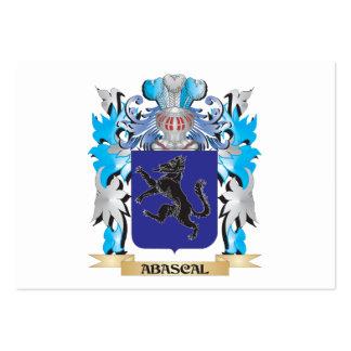 Escudo de armas de Abascal Tarjetas De Visita