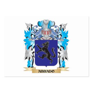 Escudo de armas de Abbado Tarjeta De Visita