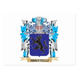 Escudo de armas de Abbatelli Tarjeta De Visita