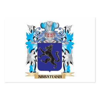 Escudo de armas de Abbatucci Tarjeta De Visita