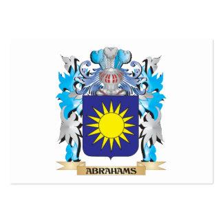 Escudo de armas de Abrahams Plantillas De Tarjeta De Negocio