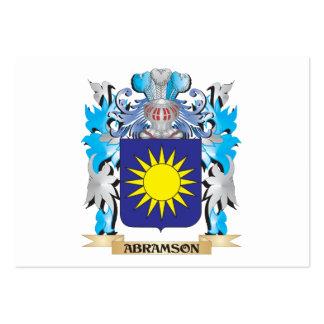 Escudo de armas de Abramson Tarjeta Personal