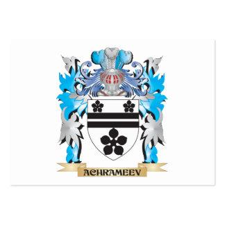 Escudo de armas de Achrameev Plantillas De Tarjetas Personales