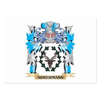 Escudo de armas de Ackermann Tarjetas De Negocios
