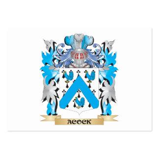 Escudo de armas de Acock Plantillas De Tarjeta De Negocio