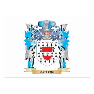 Escudo de armas de Acton Tarjetas De Negocios
