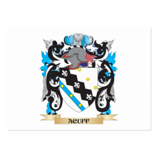 Escudo de armas de Acuff Plantillas De Tarjetas Personales
