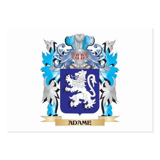 Escudo de armas de Adame Plantilla De Tarjeta De Visita