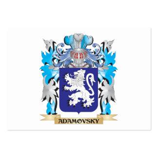 Escudo de armas de Adamovsky Plantilla De Tarjeta De Visita