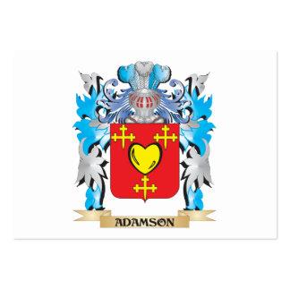 Escudo de armas de Adamson Tarjeta Personal