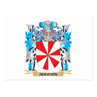 Escudo de armas de Addison Plantilla De Tarjeta De Negocio