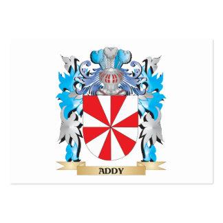 Escudo de armas de Addy Tarjetas De Visita