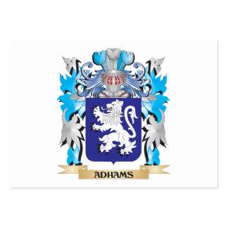 Escudo de armas de Adhams Plantilla De Tarjeta De Visita