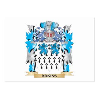 Escudo de armas de Adkins Plantilla De Tarjeta De Visita