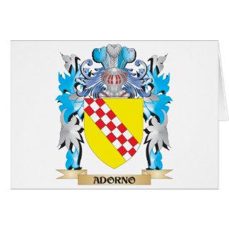 Escudo de armas de Adorno Felicitacion
