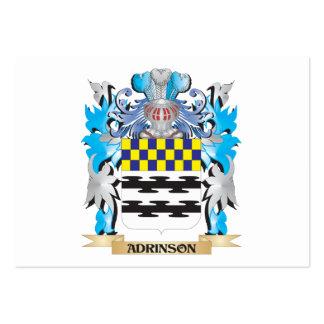 Escudo de armas de Adrinson Tarjeta De Visita
