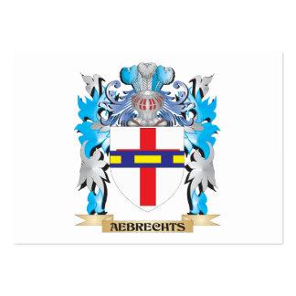Escudo de armas de Aebrechts Plantillas De Tarjetas De Visita