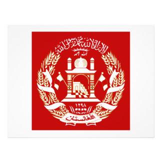 Escudo de armas de Afganistán Tarjeta Publicitaria