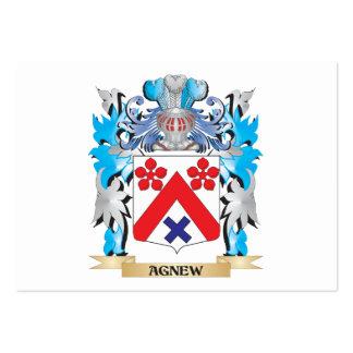 Escudo de armas de Agnew Plantilla De Tarjeta Personal