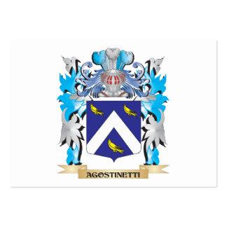 Escudo de armas de Agostinetti Tarjeta De Visita