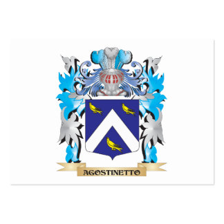 Escudo de armas de Agostinetto Tarjetas De Negocios