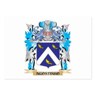 Escudo de armas de Agostinho Plantillas De Tarjetas De Visita