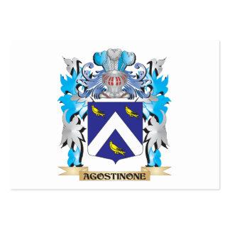 Escudo de armas de Agostinone Plantilla De Tarjeta Personal