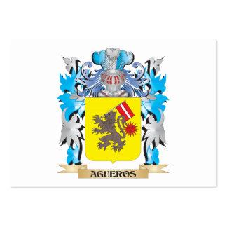 Escudo de armas de Agueros Plantilla De Tarjeta De Negocio