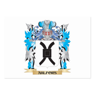 Escudo de armas de Ahlfors Tarjetas De Negocios