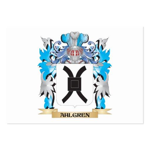 Escudo de armas de Ahlgren Plantilla De Tarjeta Personal