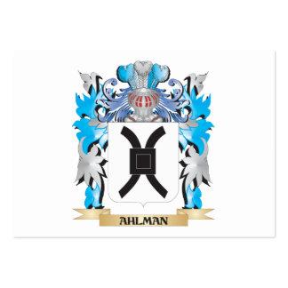 Escudo de armas de Ahlman Tarjeta De Visita