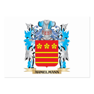 Escudo de armas de Ahmelmann Tarjeta De Negocio
